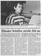 Blinder Schüler strebt Abi an