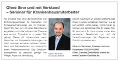 Anzeige im Schleswig-Holsteinischen Ärzteblatt 4.2018, S. 47