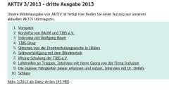 BAUM Aktiv 3/2013 - Interview am 4.11.2013