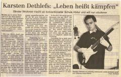 Dithmarscher Landeszeitung vom Sommer 2000
