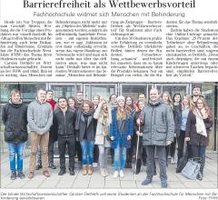 Barrierefreiheit als Wettbewerbsvorteil - DLZ vom 12.01.2017