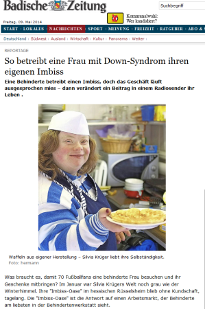 Silvia Krüger Imbiss Down-Syndrom