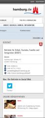 Homepage der BASFI www.hamburg.de/basfi