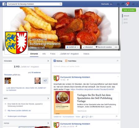 Screenshot Currywurst SH auf Facebook