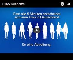 Screenshot Werbung Durex Kondome https://www.youtube.com/watch?v=cBNJmHFjZqs