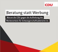 CDU Beratung statt Werbung