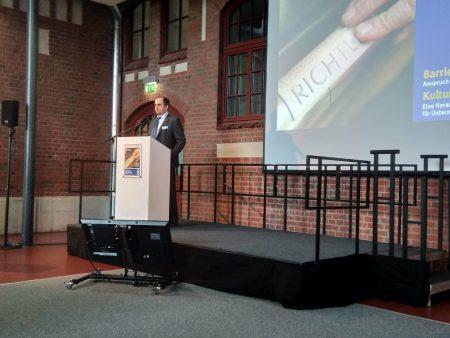 Dr. Carsten Dethelefs - Rede bei der vbg in Hamburg am 18.06.2018, Foto: privat
