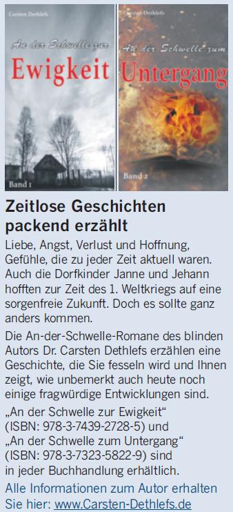 """Anzeige in """"Die Welt"""" am 28.07.2018"""