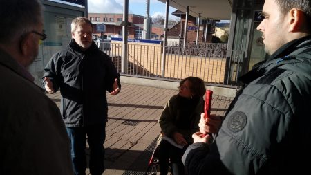 Bahnhofsbegehung in Heide am 11.03.2019; Fotos: Susanne Junge