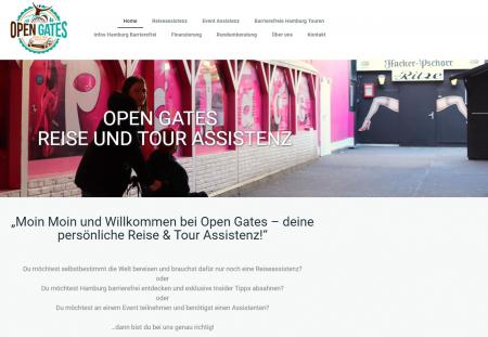 Screenshot der Seite open-gates.de
