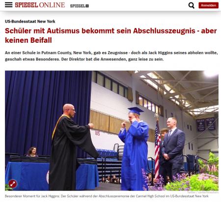 Screenshot spiegel-online.de, https://www.spiegel.de/lebenundlernen/schule/new-york-autistischer-schueler-bekommt-keinen-beifall-fuer-sein-abschlusszeugnis-a-1276644.html