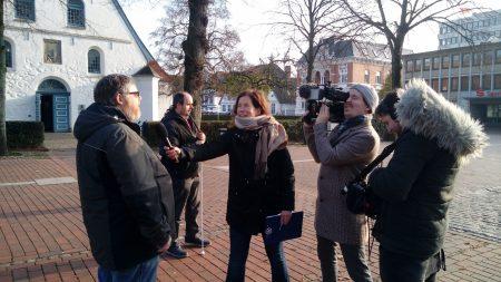Frank Arps beim Filmdreh, Foto: Susanne Junge