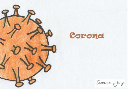 Corona-Virus, Zeichnung von Susanne Junge