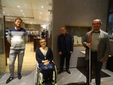 """Verein """"Auf Augenhöhe"""" - der Vorstand: Benjamin Obermann, Megan Dahleke, Thomas Felskowsky und Carsten Dethlefs (v.l.) - Foto: Andrea Henkel"""