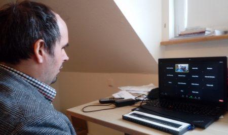 Carsten Dethlefs - digitale Vorlseung; Foto: Susanne Junge 06.11.2020